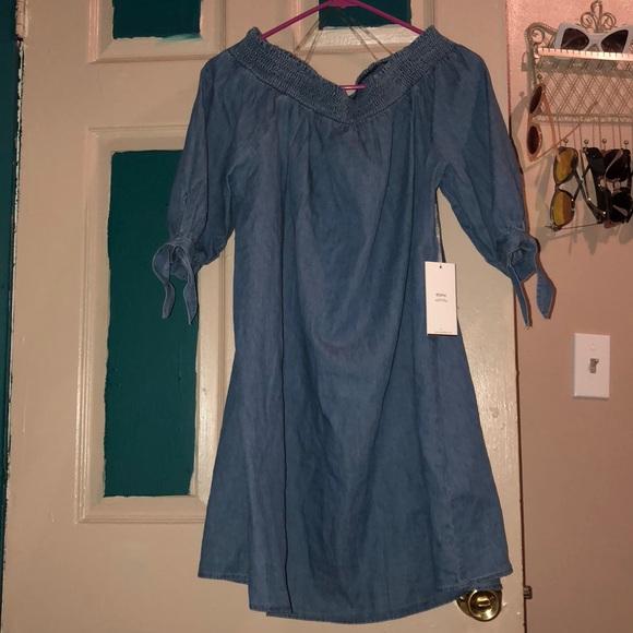 595602529d5 Plus size Off the shoulder denim dress— NWT